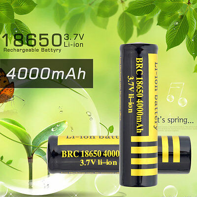 18650 4000mAh 3.7V Rechargeable Li-ion Battery For Flashlight CP