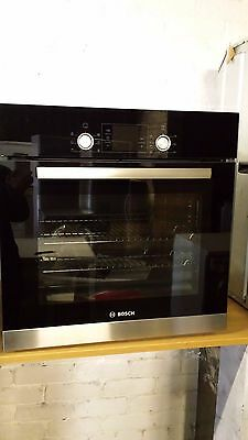 Bosch Built in Integrated HBA23B152B Black & Silver Electric Single Oven /New
