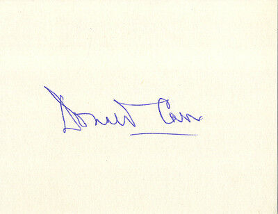 England Test Cricket - Donald Carr - Hand Signed Card.