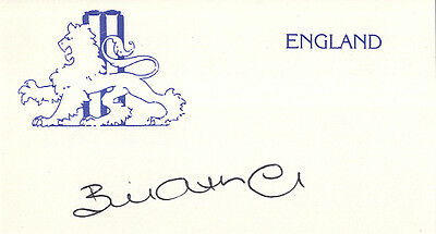 England Test Cricket - Bill Athey - Hand Signed Card.