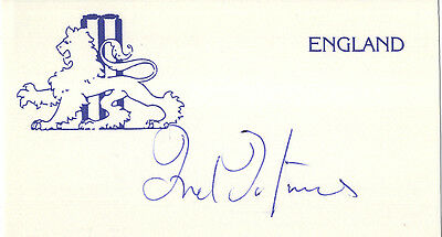 England Test Cricket - Fred Titmus - Hand Signed Card.