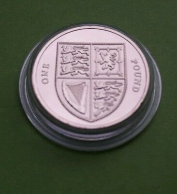 2015 Royal Shield of Arms BU £1 One Pound Coin 5th Portrait  - RARE like 2016 #2