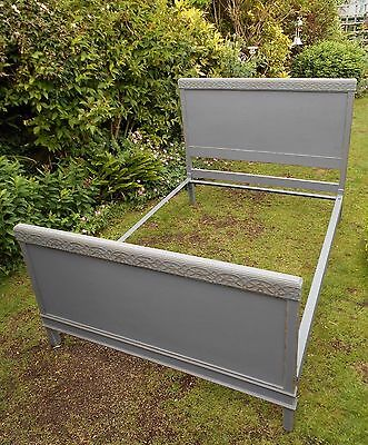 Antique  Vintage  Distressed  Double  Bed  Shabby  Chic