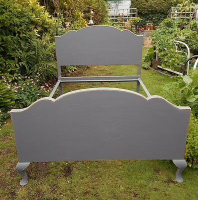 Antique  Vintage  French  Style  Distressed  Double  Bed  Shabby  Chic
