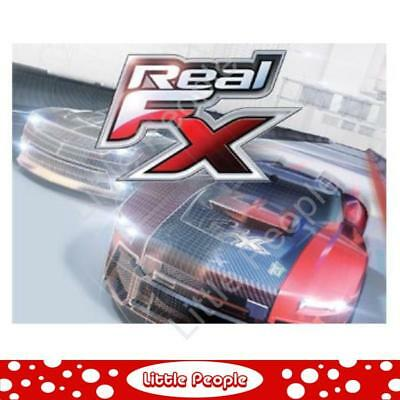 Real FX Racing: Slotless Racetrack System including two RC Cars and Handsets