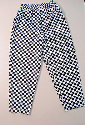 The Happy Chef Checkered Long Pants Size Medium