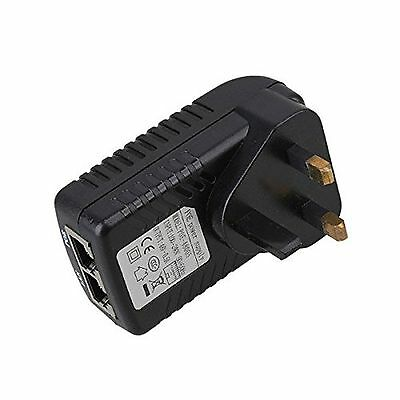 POE power supply 48v 0.5A PoE Injector adapter UK Wall Plug Power over Ethernet