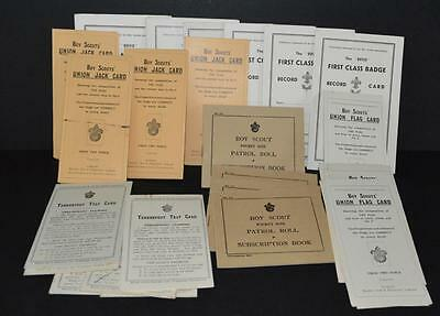 A Large Amount Of Old Unused Boy Scout Booklets.