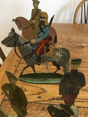 Antique Lead Figure Extreme Rare WW1 Original Toy French Soldier Military Horse