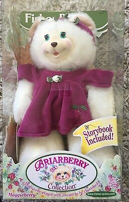 VTG Fisher Price Briarberry Maggieberry Plush Bear Figure NRFB 1999