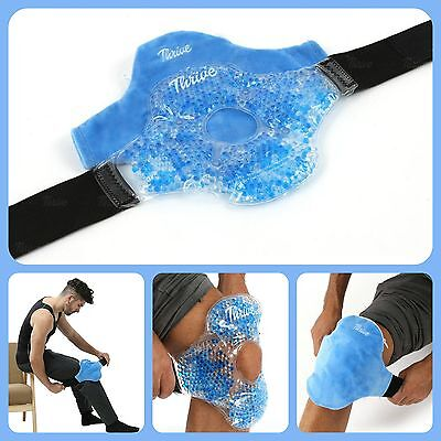 Reusable Ice Pack Knee Gel Wrap Hot and Cold Therapy Pain Relief Sport Arthritis