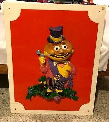 1972 McDonalds Mayor McCheese Wall Hanging Sculpture Sign- VINTAGE*McDonaldLand