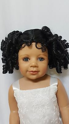 "NWT Monique Birdie Black Doll Wig 16-17"" fits Masterpiece Doll(WIG ONLY)"