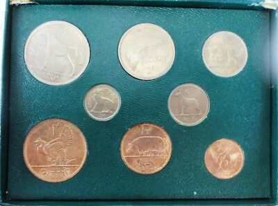 """""""Coins of Ireland"""": 8 Uncirculated Irish Coins Depicting Animals"""