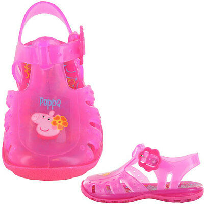girls peppa pig jellies sandals shoes size 5 7 9 infants new