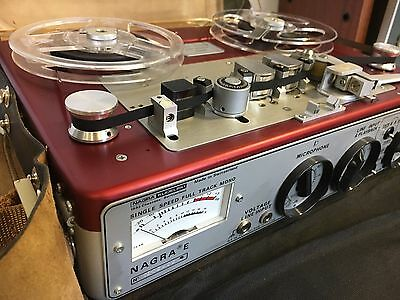 NAGRA E .  Working with carrying case in leather, coils + manual D´utilisation