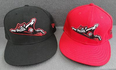 LOT 2 Richmond Flying Squirrels 7 3/8 New Era Fitted 59Fifty Baseball Hat Black