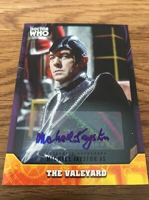 Topps Dr Who Signature Series Michael Jayston 05/10 As The Valeyard Auto Card