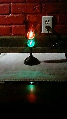 Vintage Traffic Light Toy Lamp Battery Operated Kids Room man cave bar party