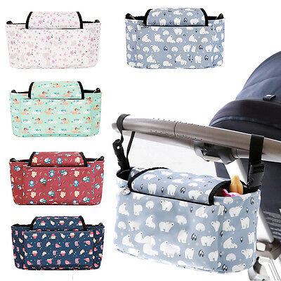 Baby Kids Carriage Strollers Accessories Bag with Large Capacity Mummy Nappy Bag