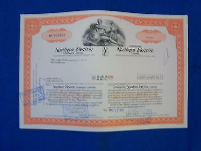 Stock Cert.: Northern Electric Company limited, Canada (S10099)