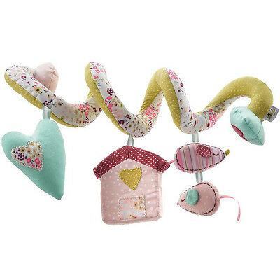Pink Floral House Mamas Baby MUSICAL Activity Spiral Crib/Car Seat Toy Girl Gift