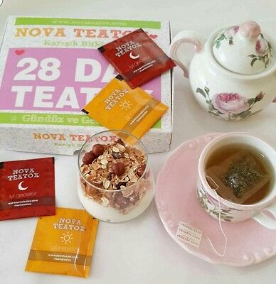 100% Genuine Novateatox 28 Day Detox Tea With (14) Bedtime Detox Weight Loss