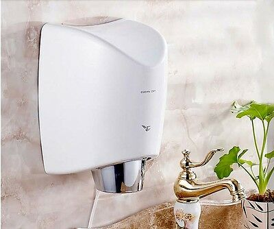 New Luxury White Plastic Wall Mounted Automatic Induction Hand Dryer Machine
