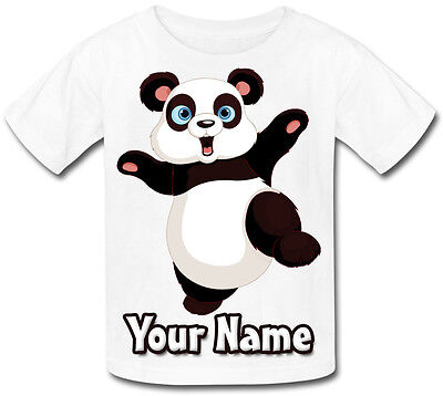Panda Personalised Baby T-Shirt - Great Gift For Any Child & Named Too
