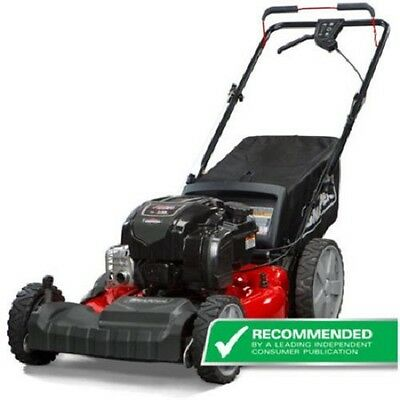 Self Propelled Gas Mower with Side Discharge, Mulching, Rear Bag and Rear High W