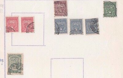 8 SCADTA stamps from Colombia