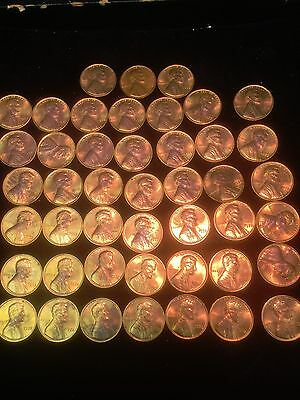 Rare Partial Roll 1972 Lincoln Cents Doubled Die Obverse FS# 106