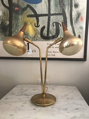 Mid Century Modern Laurel Lightolier Retro Atomic Eames Era Danish Lamp