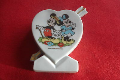 MICKEY MINNIE MOUSE WALT DISNEY PRODUCTIONS VASE 1939-1986 Birthday Gift