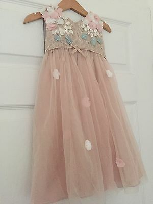 Monsoon Girls Occasion Or Bridesmaid Dress With Cardigan 18-24 Months Worn Once