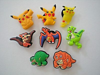 Jibbitz Clog Shoe Charm Button 8 Pokemon Fit Sandals Crocs Bracelet Accessories