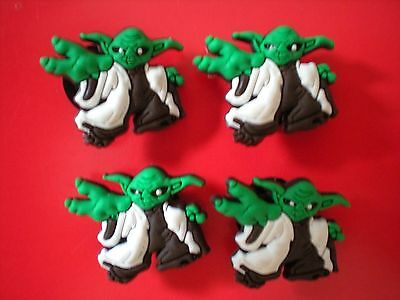 Jibbitz Croc Clog Shoe Plug Charms Fit Bracelets Sandals /holes 4 Starwars Yoda