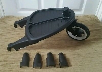 Genuine bugaboo cameleon, frog and gecko wheeled board with adapter#