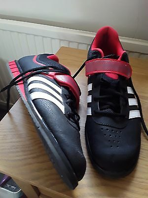 Adidas powerlift black & red  mens weightlifting shoes size 12.5