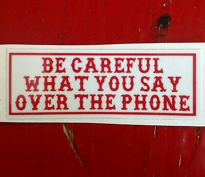 "Hells Angels Canaan Maine Support Sticker,""be Careful"""