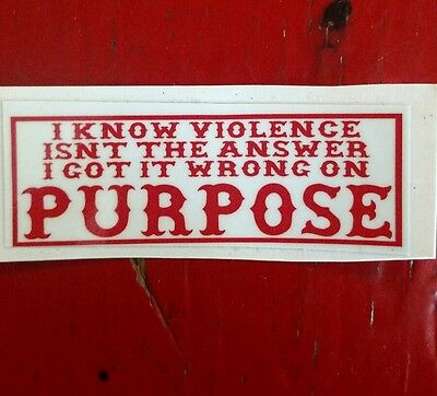 "Hells Angels Canaan Maine Support Stickers, ""i Know Violence"""
