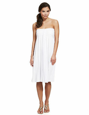 MARKS & SPENCER WHITE MULTIWAY BEACH DRESS Sizes 12 to 22