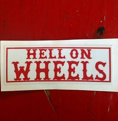 "Hells Angels Canaan Maine Support Stickers, ""hell On Wheels"""