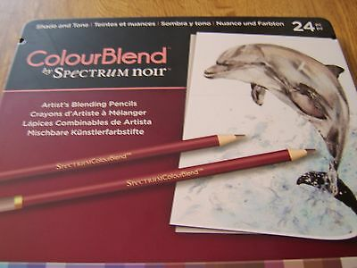 Spectrum Noir Colourblend Artists Pencils Set Of 24 In Tin - Shade & Tone