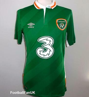 IRELAND Umbro Home Football Shirt 2016-2017 NEW S,XL,XXL Jersey FAI Republic