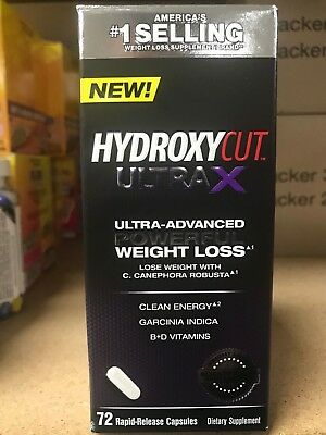Hydroxycut Ultra X 72 Count NEW! Advanced Weight Loss Formula Fast/Free Shipping