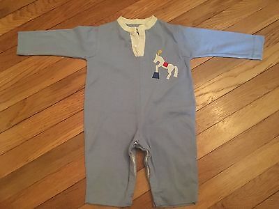 Boys Toddler Vintage Florence Eiseman Knits Jumpsuit  Horse Circus Decal Med