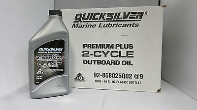 Mercury 2-Cycle Premium Syn Outboard Oil 92-858025Q02 (case of 9)