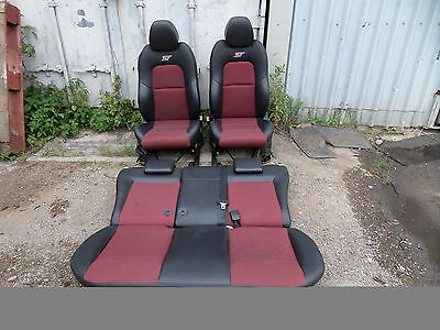 Ford Fiesta St Red & Black Half Leather Front And Rear Seats Interior Mk6 02-08