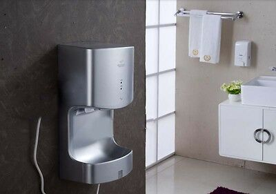 Silver Gray Wall Mounted Automatic Induction Quick Drying Hand Dryer Machine